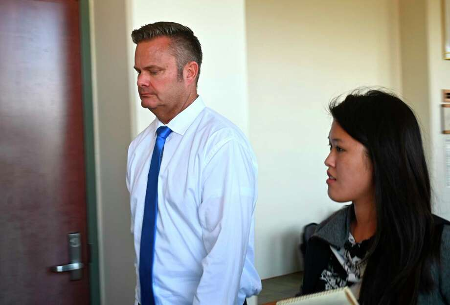 FILE - In this Feb. 21, 2020, file photo, Chad Daybell, Lori Vallow's current husband, walks into court for his wife's hearing on child abandonment and other charges in Lihue, Hawaii. Daybell, the husband of Idaho mom Lori Vallow, was taken into custody Tuesday, June 9, 2020, hours after police executed a search warrant at his Idaho home as part of the investigation into the disappearance of Vallow's children. Daybell and Vallow were married in Hawaii on Nov. 5, just two weeks after his wife was found dead at home. (Dennis Fujimoto/The Garden Island via AP, Pool, File) Photo: Dennis Fujimoto / POOL The Garden Island
