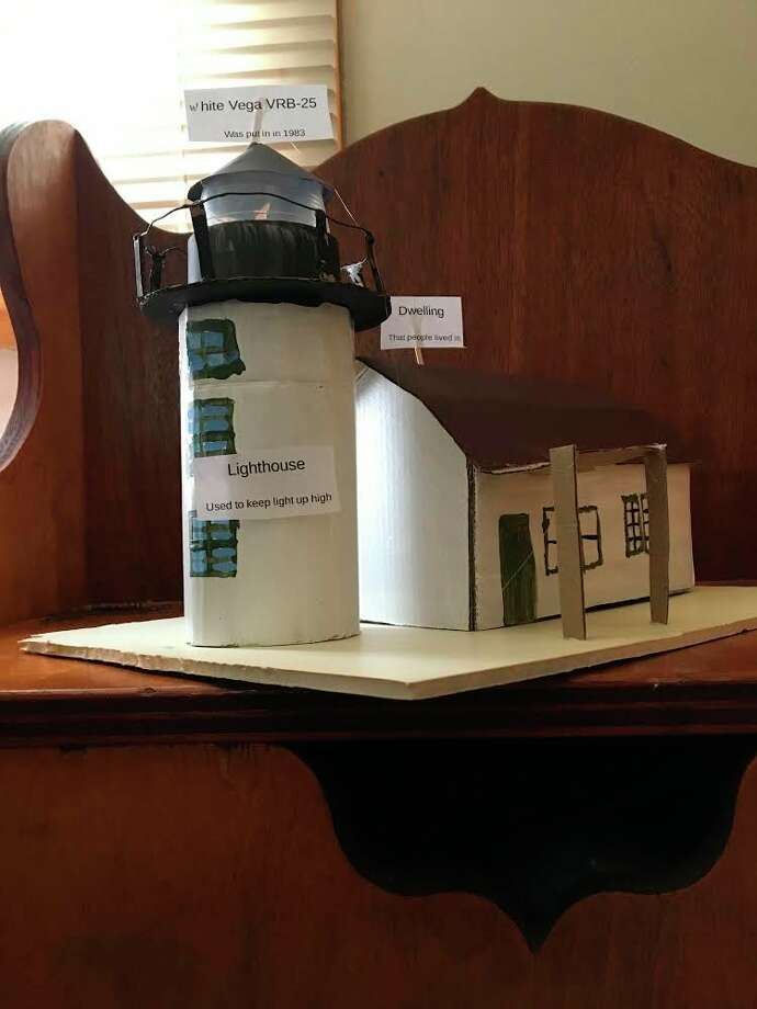 Leah researched Point Betsie Lighthouse for hersixth grade science and social studies project atFrankfort-Elberta Area Schools. (Submitted photo)