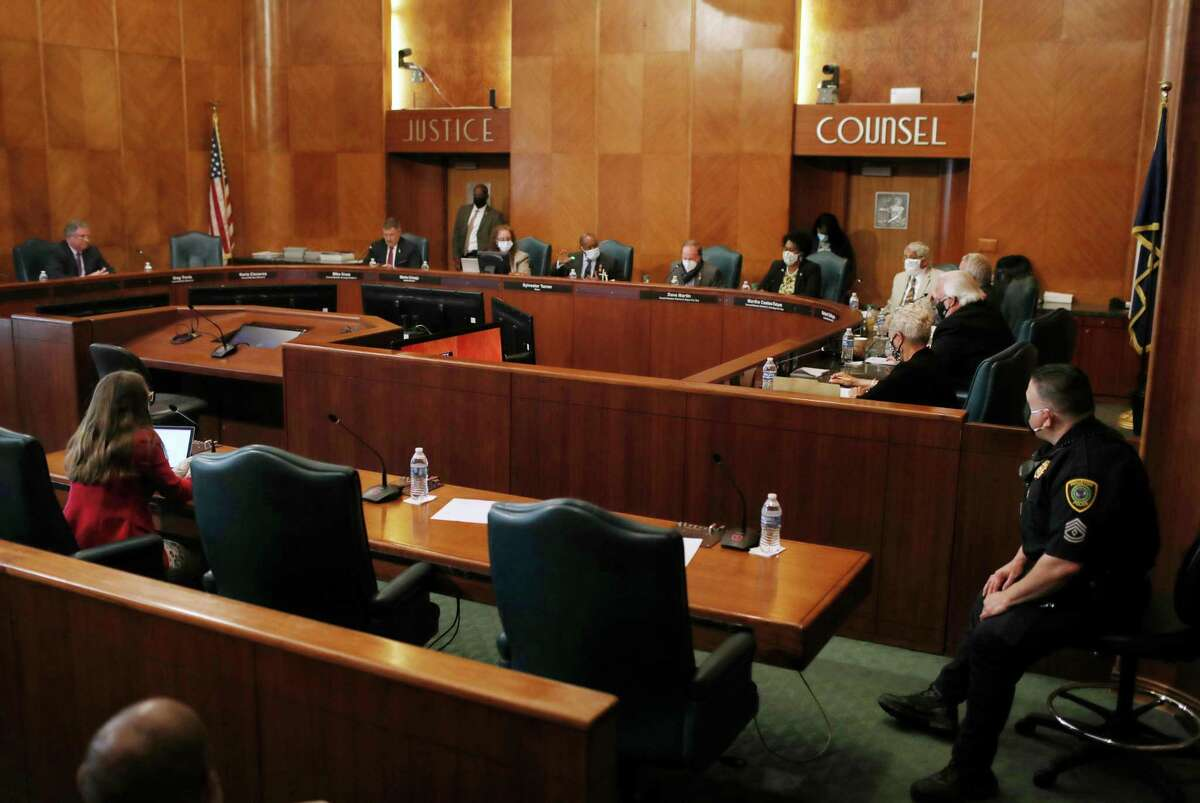 City Council met for an in-person session Wednesday, May 13, 2020, at City Hall in Houston.