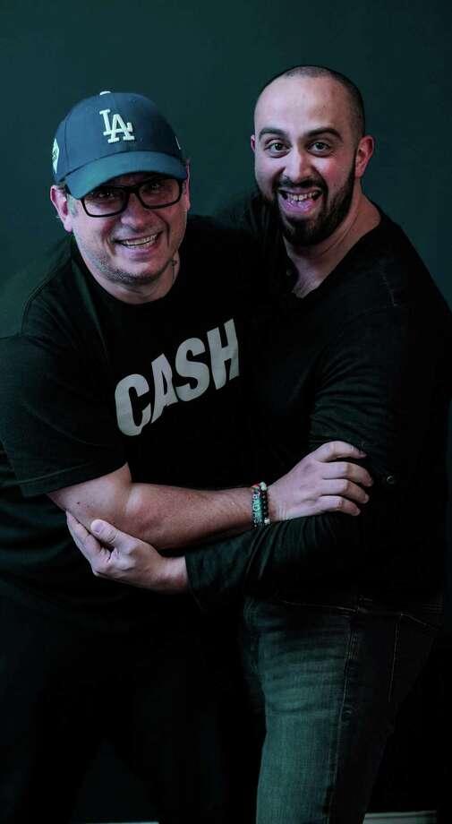 "Greg Alprin, left, and Nick Scopoletti of ""The Mangina Dialogues."" Photo: Greg Alprin / Contributed Photo"