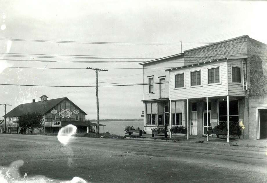 This picture shows what the Village of Bear Lake looked like in the early 1920s.