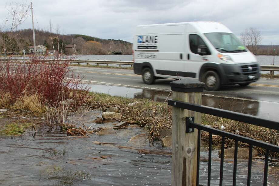 High water has caused the Michigan Department of Transportation to close the M-22 Causeway between Frankfort and Elberta. Photo: File Photo