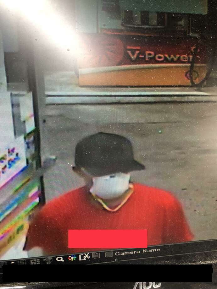 New Haven police are looking to identify this man after an alleged gas station robbery Tuesday. Photo: New Haven Police Department /