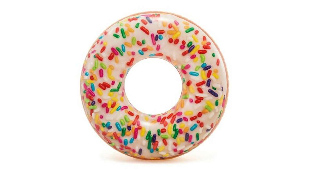 Intex Inflatable Sprinkle Donut Pool Tube Price: $7.99 Would it be too extra to eat a donut while lounging on this donut pool tube? No? We're glad we asked. For under $10, you can't beat that.