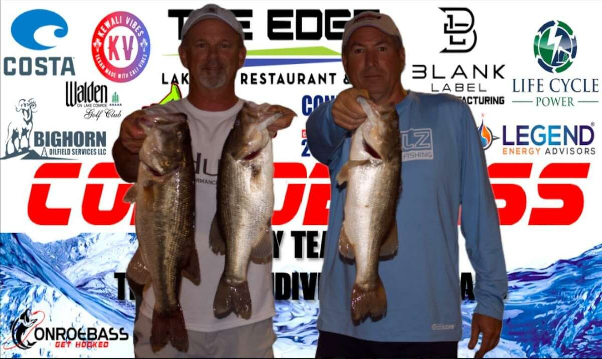 Mark Boyett and Lester Springer won the CONROEBASS Tuesday night tournament with a stringer weight of 13.71 pounds.
