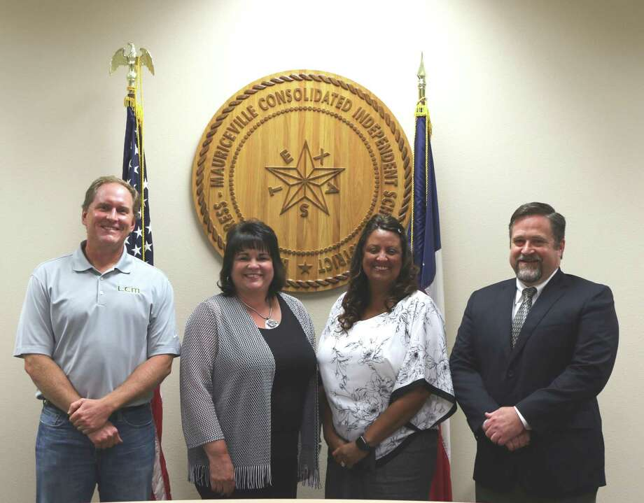 LC-M Officers from left to right are Aubrey Milstead, Superintendent Stacey Brister, Tammy Rountree and Randy McIlwain Photo: Isaac Windess / Little Cypress-Maruiceville CISD
