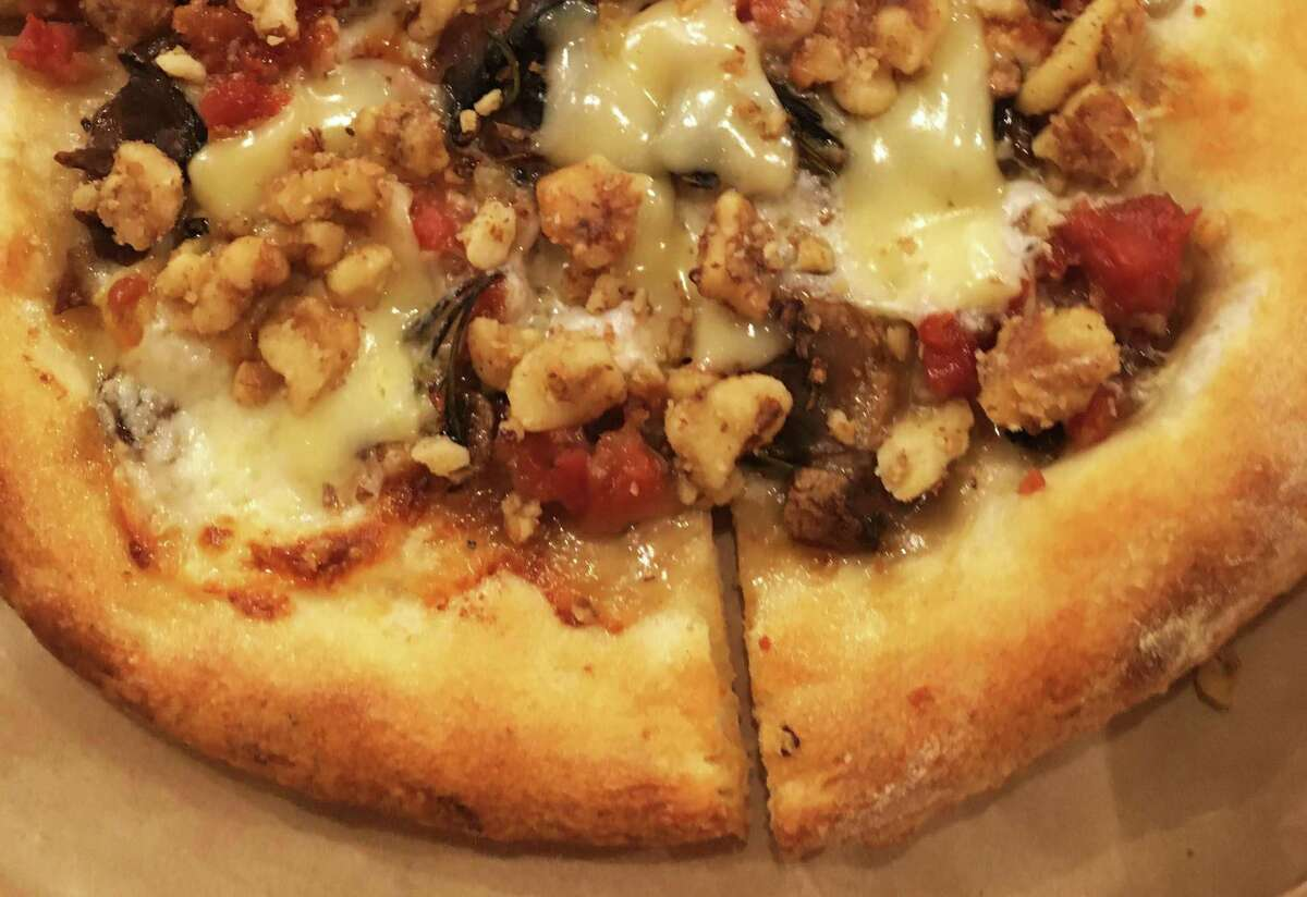 The prosciutto mushroom pizza at Back Unturned Brewing Co.