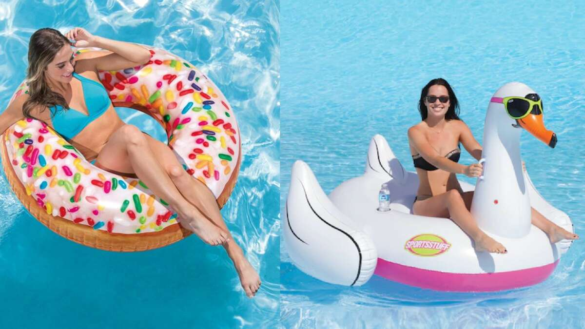 Simple pool floats are a relic of the past. If you're going to lounge in a pool, it needs to be in style, or else why float at all? Thankfully, the Internet is not short on cool pool floats, so your next pool party will be that much more Instagrammable. You can lounge on a donut, become an avocado pit, or even ride a duck, alligator, or swan (not the living kinds, please).