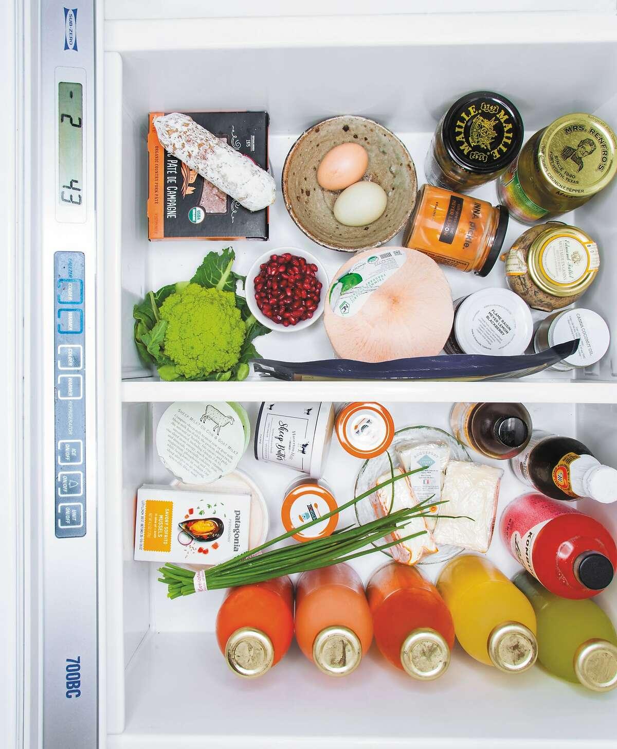 Dominique Crenn's fridge