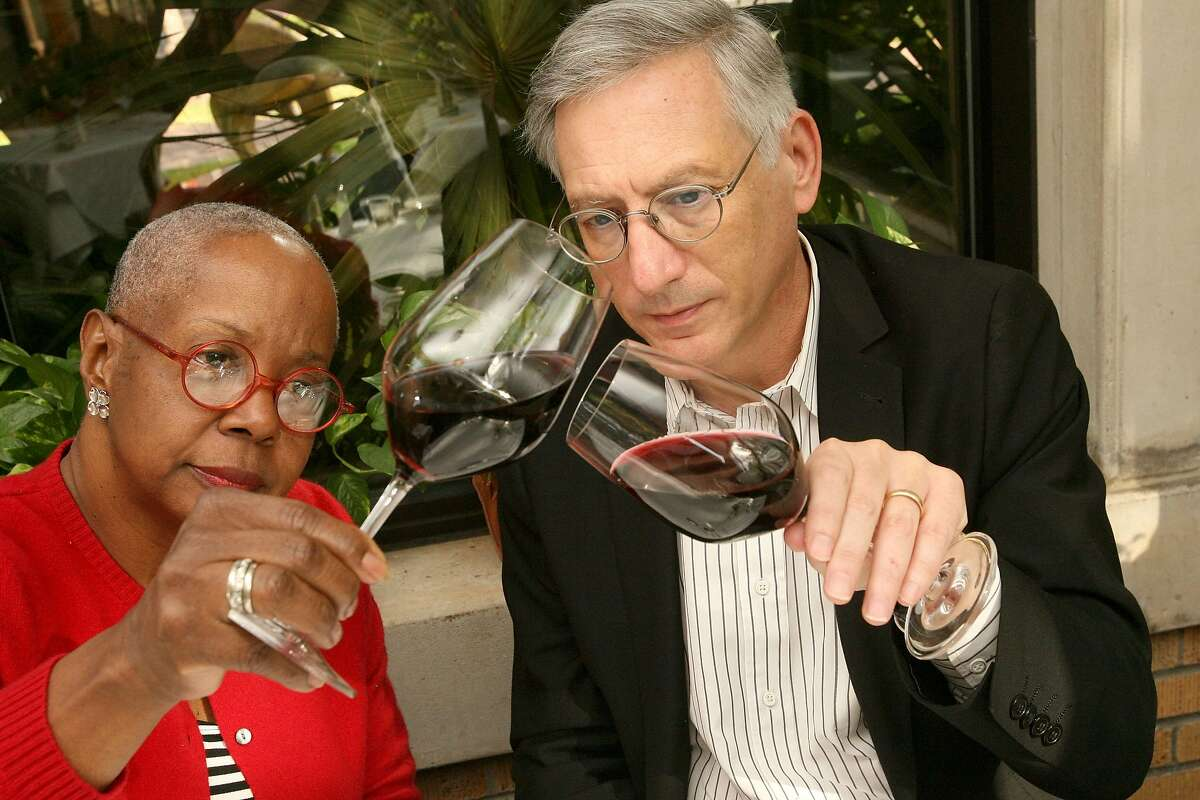 Bill Olive-for the Chronicle.10/15/2008. 3410 Montrose Blvd, Houston, Tx. Wall Street journal wine writers, Dorothy J. Gaiter and John Brecher, have a new book out and spoke at Houston's La Colombe D'Or.