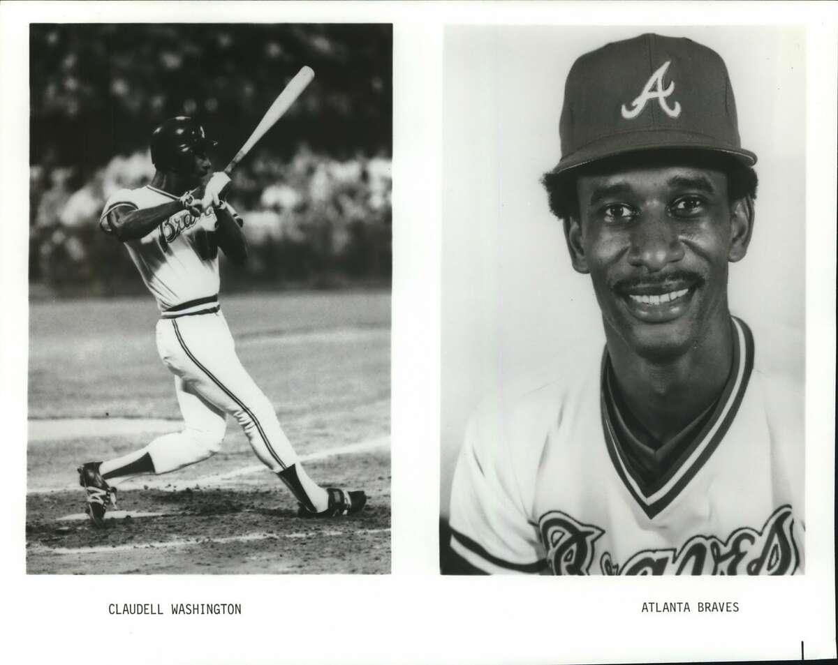 Washington, Claudell (Baseball) Braves, Claudell Washington. Braves. Atlanta Braves.