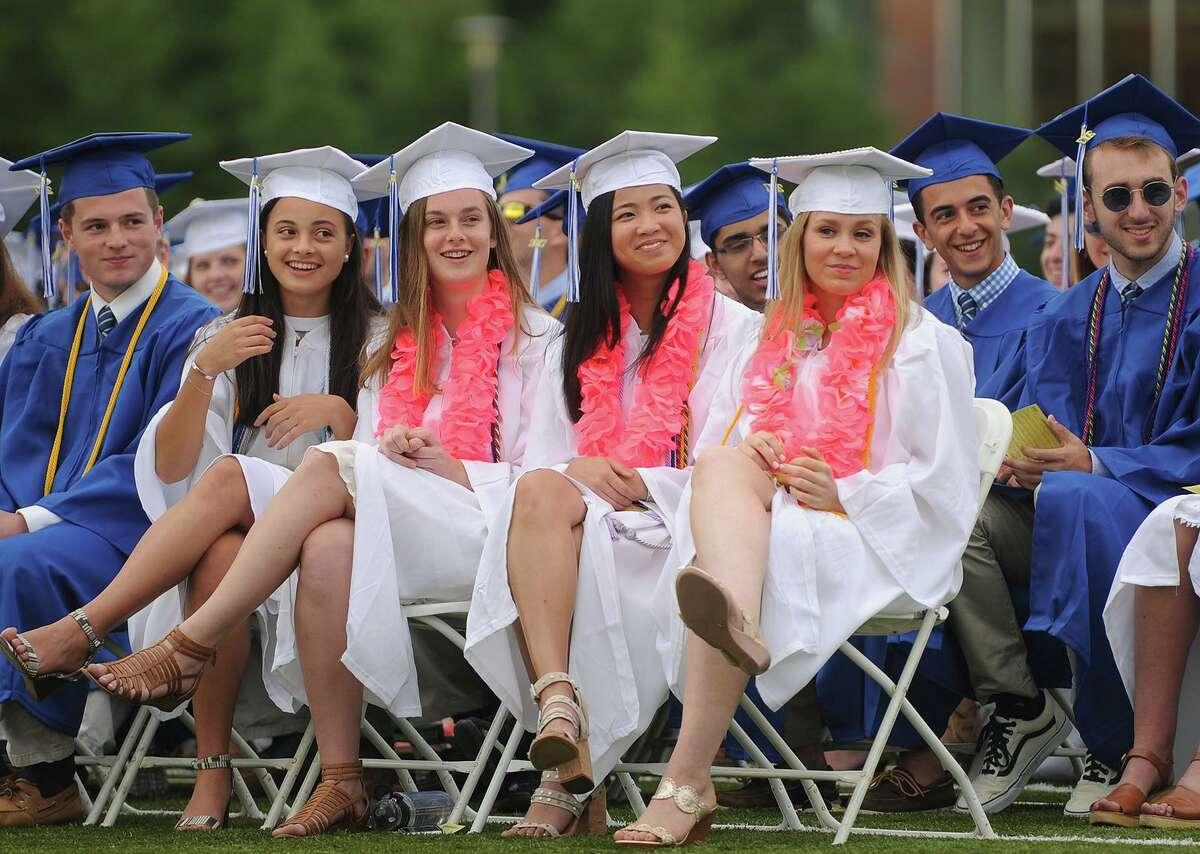 The Fairfield Ludlowe High School graduation in Fairfield, Conn. on Thursday, June 15, 2017.