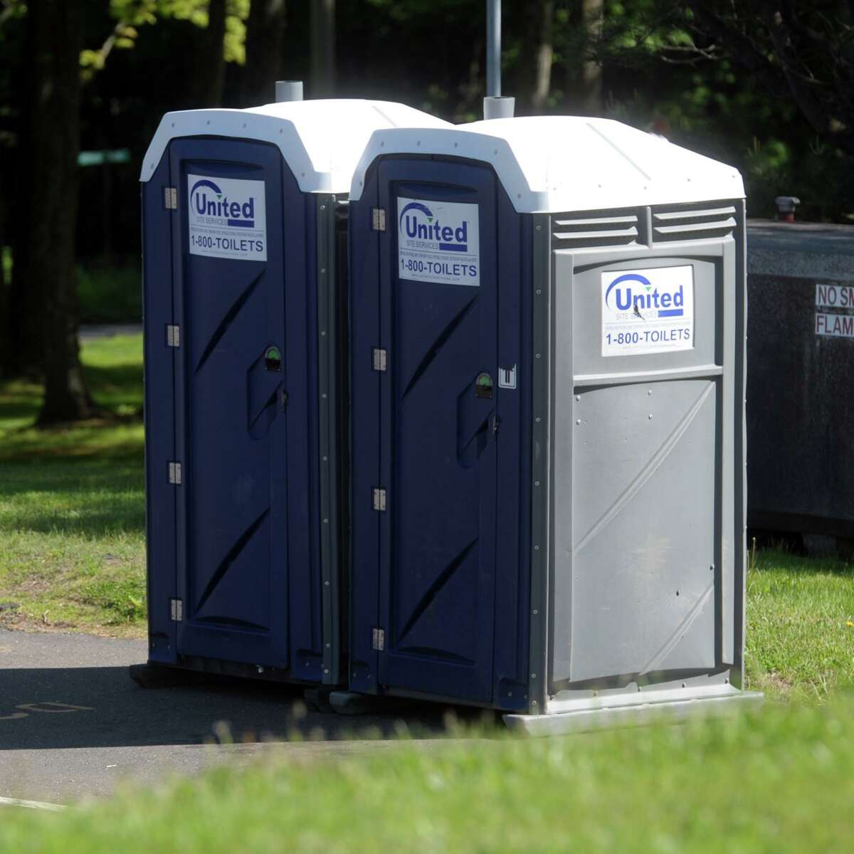 The portable toilets stationed at Shelton police headquarters have become the center of a complaint filed by the police union against the city.