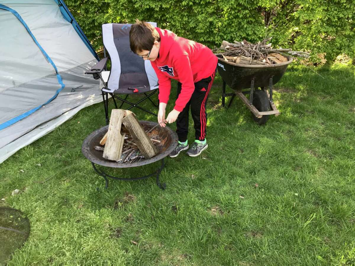 New Canaan Boy Scouts Troop 70 has kept up their activities during the coronavirus pandemic, recently holding a virtual campout. Boy Scouts camped out on their own in yards, and came together online to share their experiences.