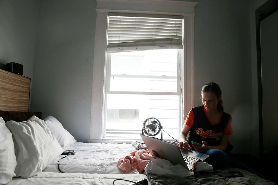 Amber Richmond at the Hotel Minna in San Francisco's South of Market neighborhood. Photo: Lea Suzuki / The Chronicle