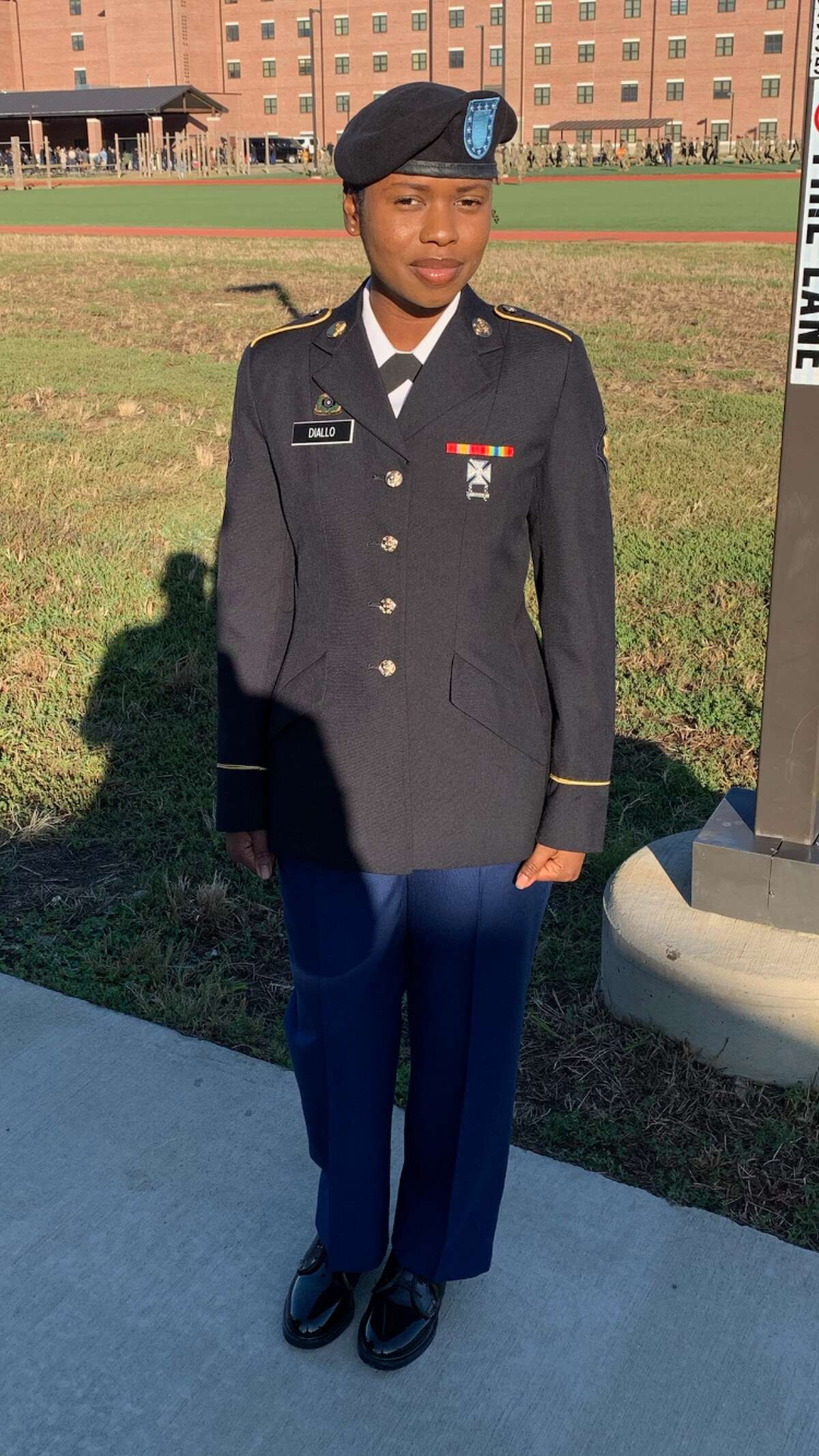 Gienabou Diallo, 25, is a Muslim and a member of the U.S. Army Reserves. She cares deeply about her faith and her sacred vow to protect American lives. She says President Donald Trump's and Attorney General William Barr's talk of using the military against peaceful protesters of George Floyd's death conflict.