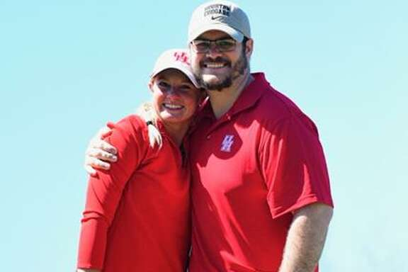 University of Houston golfer Brooke McDougald, left, and TCU football player Nate Guyton will be wed in 2021.