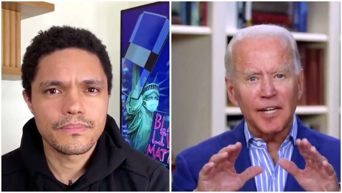 Joe Biden was interviewed on the Daily Show with Trevor Noah.