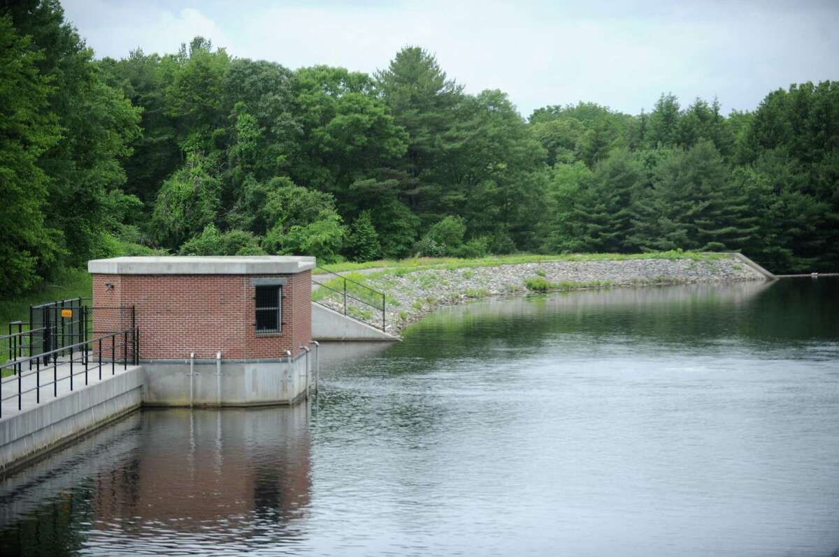 The North Stamford Reservoir on Lakeside Drive in Stamford, Connecticut, is shown during a previous warm weather month. Aquarion Water Company customers in New Canaan, Darien, Greenwich, Newtown, Stamford, and Westport have been issued mandatory water restrictions by the Aquarion, as temperatures linger above 80 degrees the week of June 22, 2020, with little. or no rain.