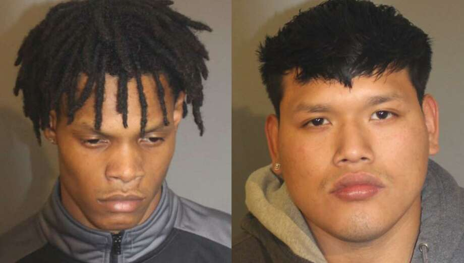 Kenaas Council, left, and James Lema-Zaruma, right, were both arrested in connection with the March 18 fatal stabbing of Willy Placencia. Photo: Danbury Police Department