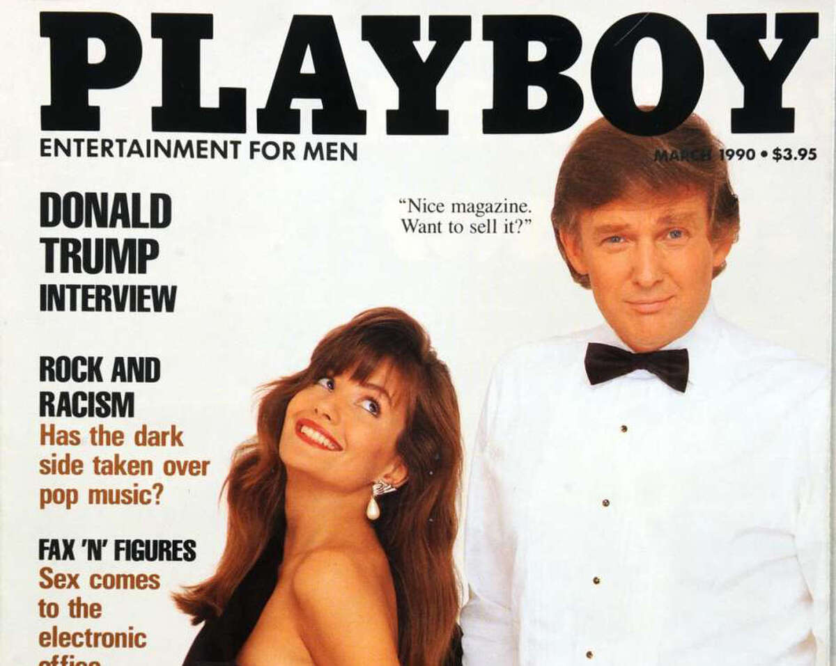 Donald Trump on the cover of Playboy Magazine, March 1990.