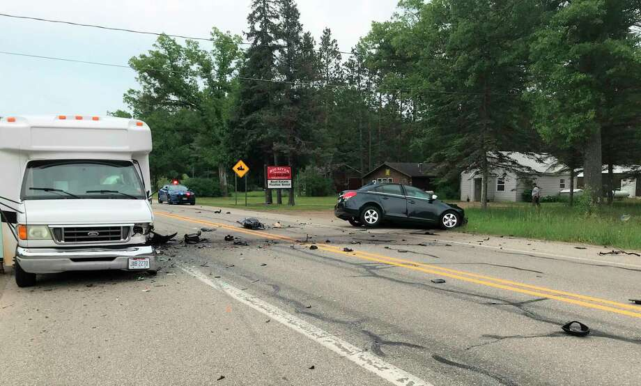 A fatal crash happened Wednesday afternoon in front of Big River Properties in Norman Township. (Courtesy photo)