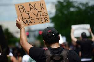 Local organizers gather nearly 1000 people Saturday, June 6, 2020, to conduct a peaceful protest against racism which marched from Rogers Park to the Danbury Police Station in Danbury, Conn. Several speakers addressed the crowd at the police station including US Senator Richard Blumenthal and NAACP representative Phyllis Kinlow.
