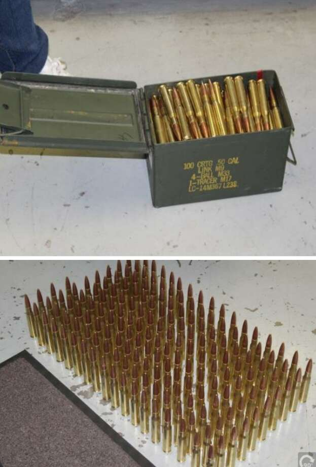 Laredo police said they seized 756 rounds of .50 caliber ammo from a home in the 5100 block of El Sabinal Lane in south Laredo. No arrest was made in connection with the case. The investigation continues. Photo: Courtesy Photo /Laredo Police Department