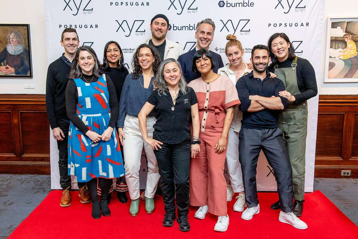 NEW YORK, NEW YORK - FEBRUARY 27: (L-R) Chris Morocco, Claire Saffitz, Priya Krishna, Carla Lalli Music, Brad Leone, Gaby Melian, Sohla El-Waylly, Adam Rapoport, Molly Baz, Andy Baraghani and Christina Chaey attend Behind-The-Scenes Conversation With The Bon Appetit Test Kitchen at 92nd Street Y on February 27, 2020 in New York City.