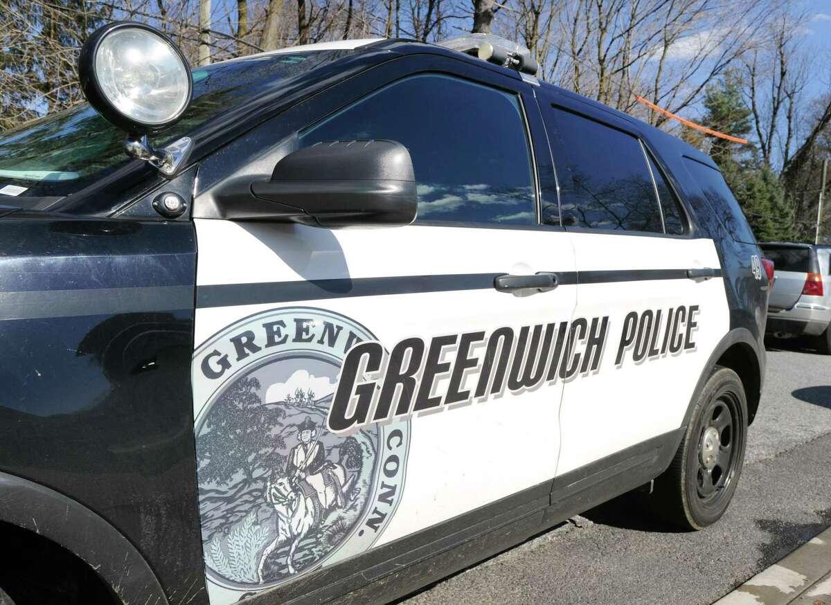 A Greenwich police car March 29, 2017.