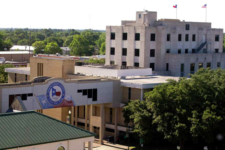 Zip code 77301, which included downtown Conroe, has the highest active COVID-19 cases with 54. That number, according to health officials includes active cases from the Montgomery County Jail and the Joe Corley Detention Center. Photo: Jason Fochtman, Staff Photographer / Houston Chronicle / © 2017 Houston Chronicle