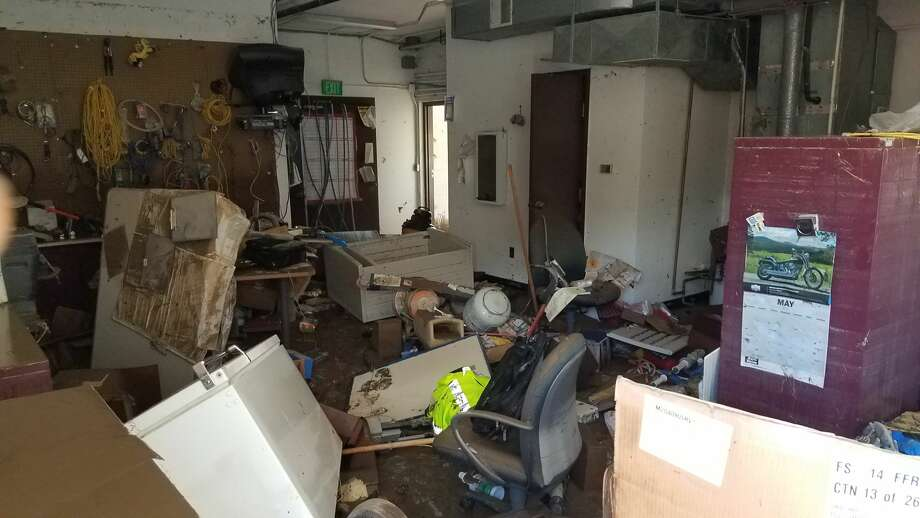TDS Telecom teams have worked daily to create a new hub for equipment to restore phone and internet service to Sanford area residents after a heavy rain event wiped out the company's central office. (Photo provided/TDS Telecom) Photo: Photo Provided/TDS Telecom