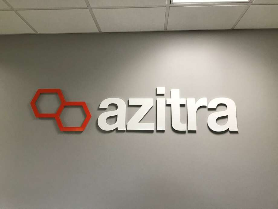 The Azitra logo inside the company's new offices  in Branford. Photo: Contributed Photo /
