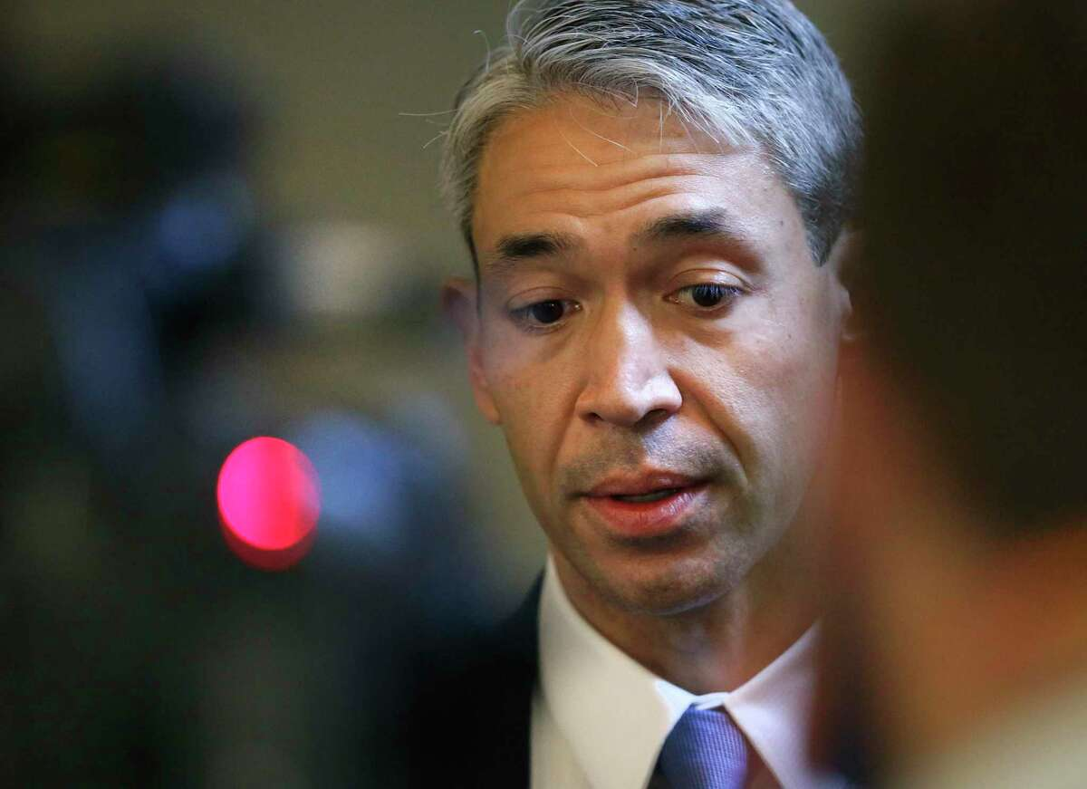 San Antonio Ron Nirenberg answers question following the San Antonio City Council meeting at the Municipal Plaza Building, on Thursday, June, 11, 2020.