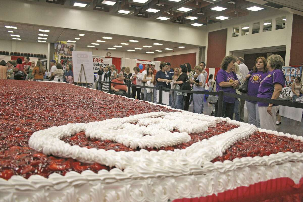 The Strawberry Festival is set for the July Fourth weekend, and will include its traditional dessert - an enormous strawberry shortcake.