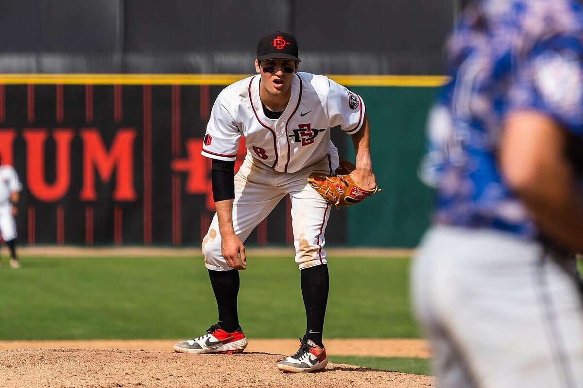 San Diego State's Casey Schmitt was selected by the San Francisco Giants in the second round of the 2020 draft.