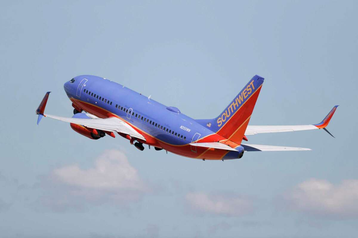 A Southwest Airlines jetliner takes off from Denver International Airport as travellers deal with the effects of the new coronavirus Wednesday, June 10, 2020, in Denver. (AP Photo/David Zalubowski)