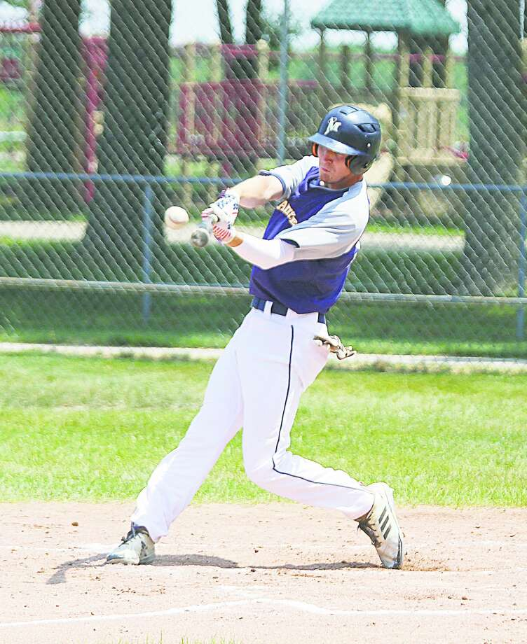 Nick Brzezinski was the Saints' 2019 Player of the Year, leading the squad in batting percentage, slugging percentage and RBIs. (News Advocate file photo) Photo: News Advocate File Photo