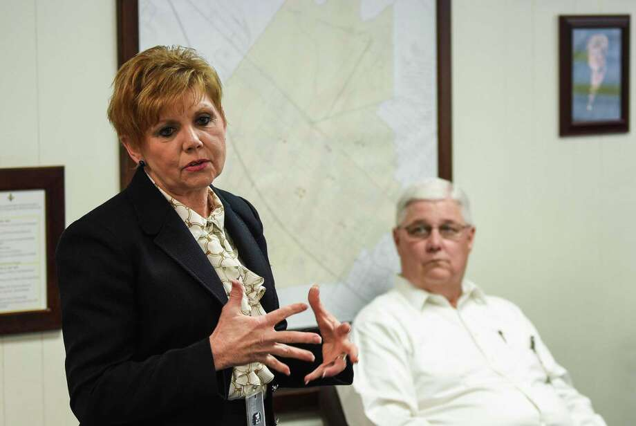 Nederland Independent School District Superintendent Robin Perez talks to members of the media about a bond that voters will be approving or denying in the May election. The bond, if approved, will go towards facility improvement for NISD and will be worth 155.6 million dollars. Photo taken on Thursday, 03/07/19. Ryan Welch/The Enterprise Photo: Ryan Welch / The Enterprise / ©Ryan Welch