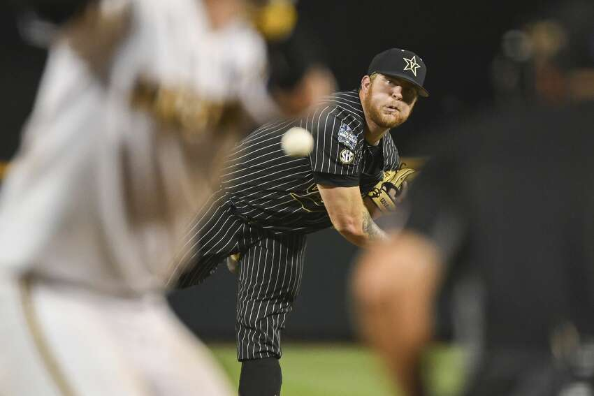 Tyler Brown, RHP, VanderbiltPick: No. 101 overall (Third round)The 6-foot-4, 242-pound closer set Vanderbilt's single-season record with 17 saves as a sophomore when the Commodores won the national championship. Brown, who throws in the mid-90s, was ranked as a Top 100 prospect by Baseball America.
