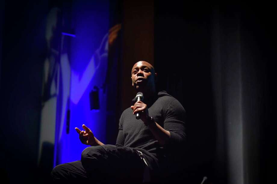 Comedian Dave Chappelle addresses students and faculty at Duke Ellington School of the Arts on Sept. 29, 2017, in Washington, D.C. Photo: Washington Post Photo By Jahi Chikwendiu / The Washington Post