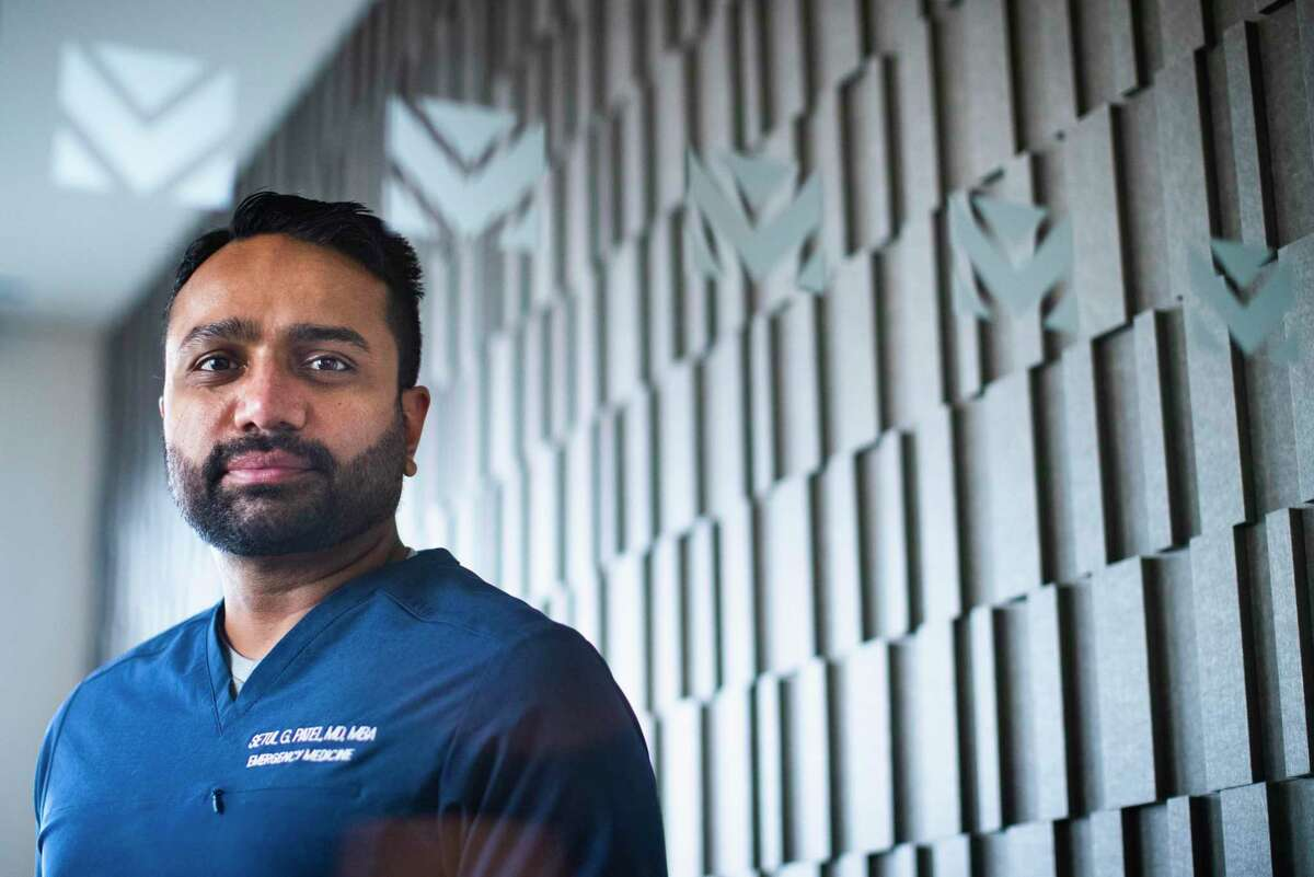 Setul Patel of FormulaMed at Masterson Advisors LLC offices on Thursday, June 4, 2020, in Houston. Patel who is an emergency medicine doctor consults with businesses about safe ways to reopen during the pandemic.