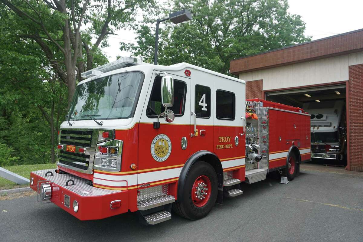 Troy Fire Department's new Engine 4 went into service Friday, June 12, 2020 at the North Street Fire House in Troy, N.Y.'s North Central neighborhood.