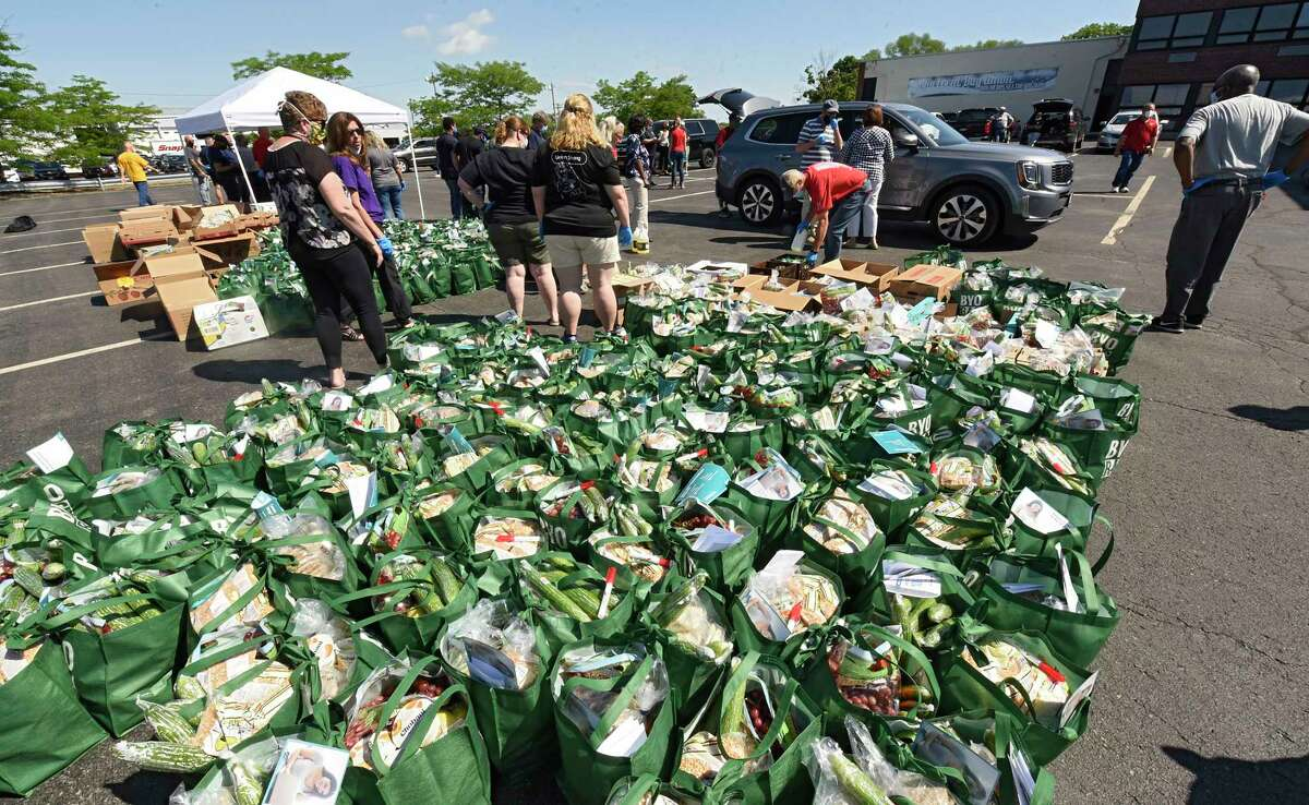 FILE. Need for food and other help continues to increase as the pandemic continues. (Lori Van Buren/Times Union)