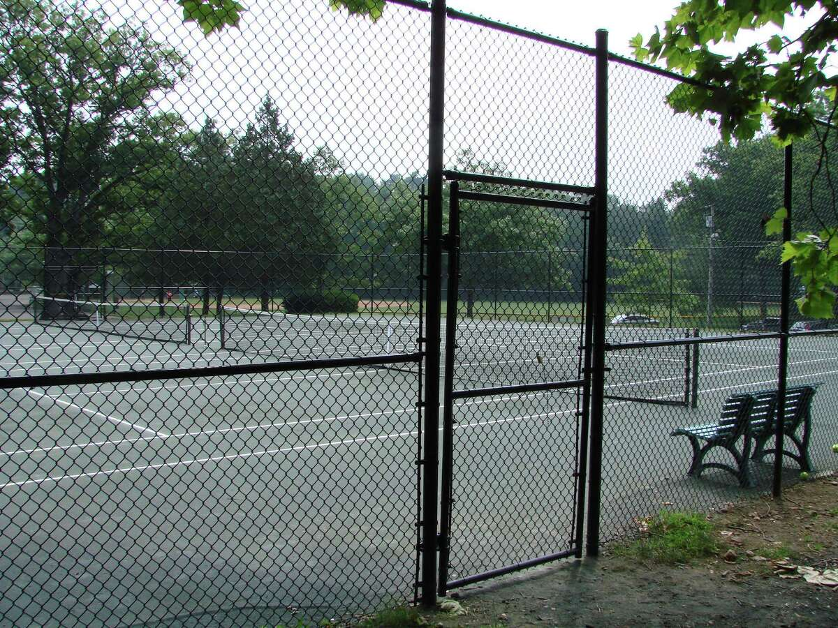 The tennis courts at Mead Park in New Canaan are open for the town's spring 2020 recreation season again. They are open without pickleball because projects, such as refurbishing, and installing pickleball courts, were not able to be done in time for the season due to the coronavirus pandemic.