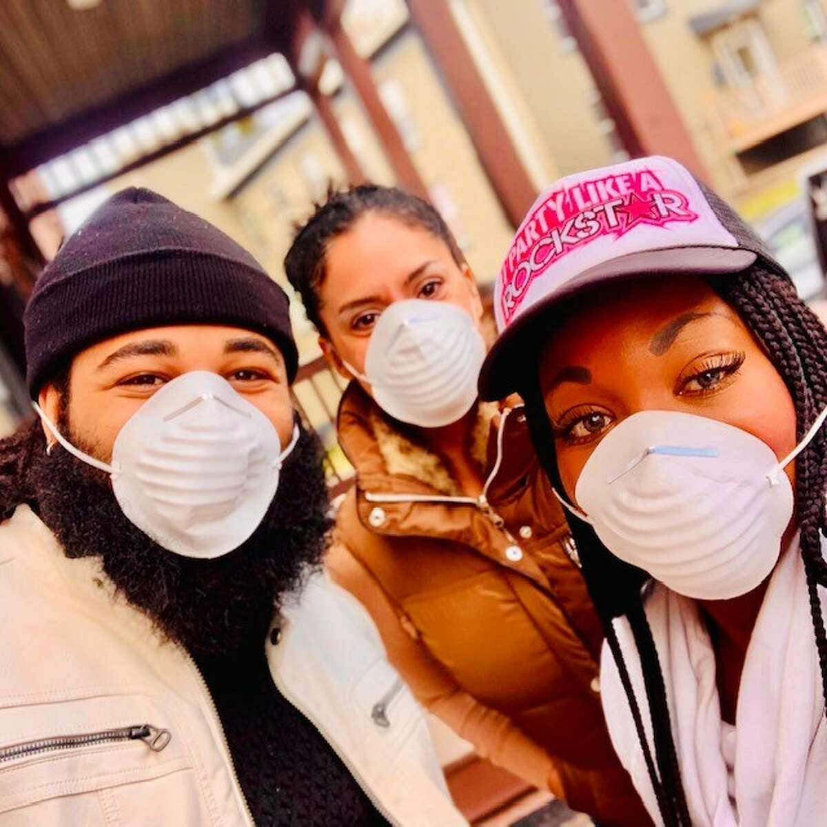 Tiffany Orner, right, and other volunteers during coronavirus efforts/ (Provided)