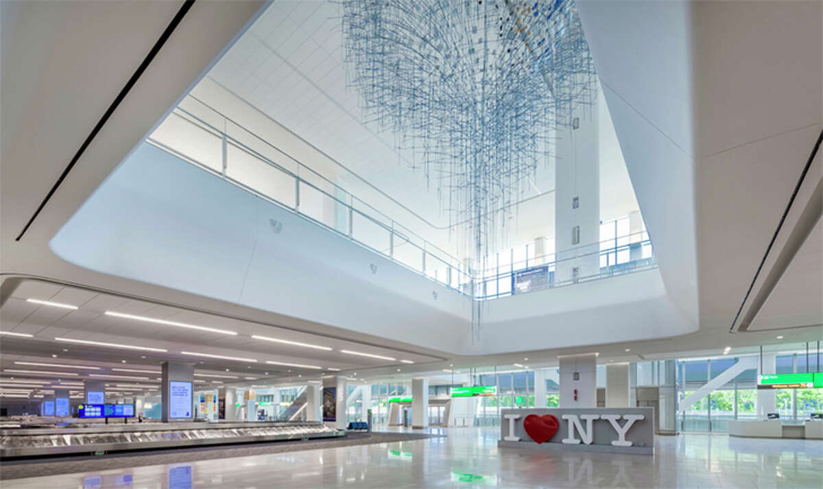 New York LaGuardia this weekend cuts the ribbon on a big new Terminal B Arrivals/Departures Hall.