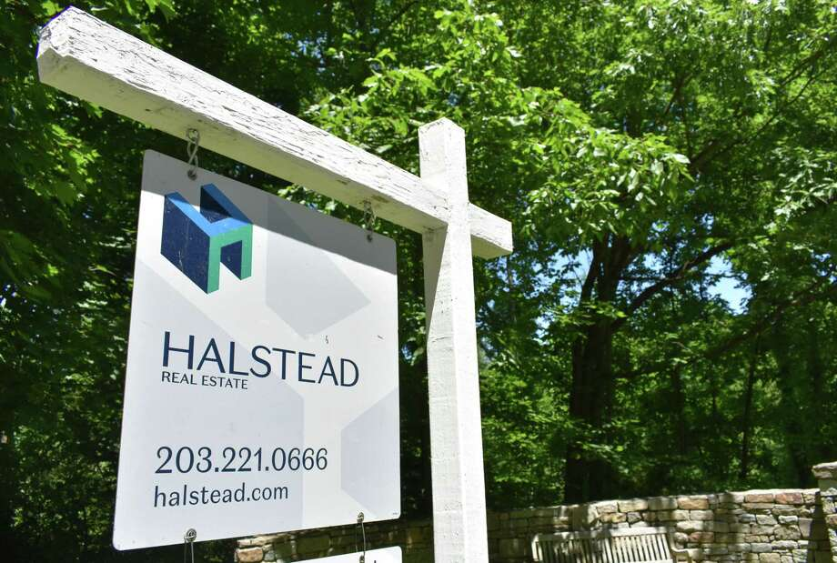 A Halstead listing in Wilton, Conn., in June 2020. Halstead is merging with Brown Harris Stevens to form a real estate brokerage with some 2,500 agents in New York, Connecticut and New Jersey. Photo: Alexander Soule/Hearst Connecticut Media / Hearst Connecticut Media