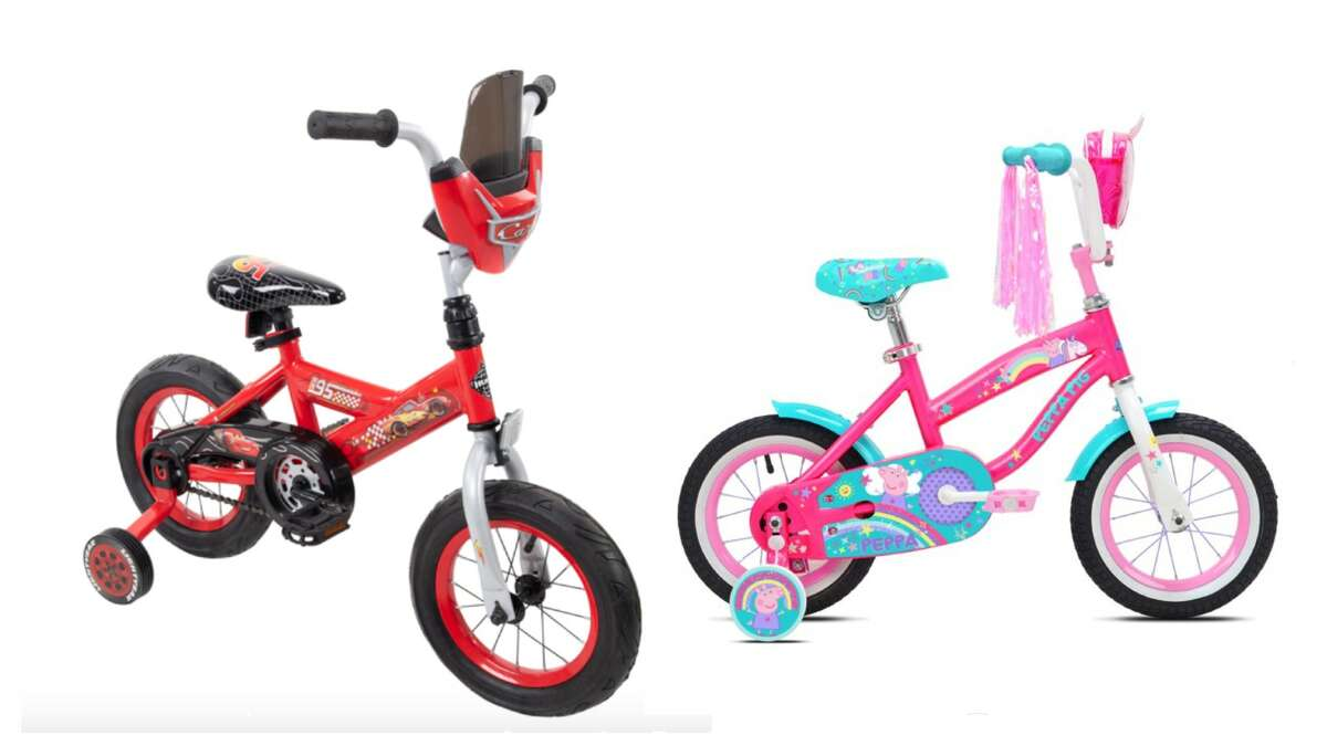 First Bikes For the Little Kids If this is going to be a family ordeal, you have to start with bikes for your children. You'll want to make it fun for the little ones by getting a bicycle (with training wheels) that has one of their favorite characters. It might seem silly to get a