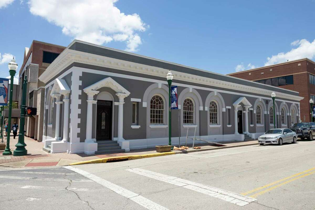The Conroe State Bank building undergoes renovations after being purchased by attorney Tay Bond in downtown Conroe, Thursday, June 4, 2020. The historic building was a part of a Historical Resources Survey done by Frank and Merlynn Hersom of Conroe.